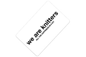 Tarjeta regalo We are knitters